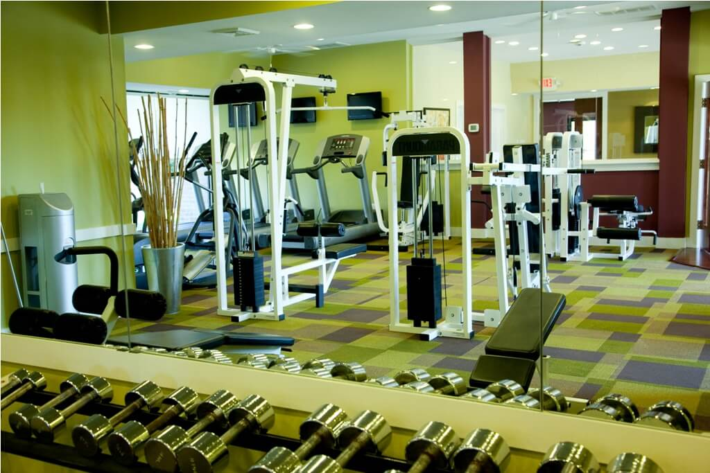 fitness center at Korman Residential at Cherrywood