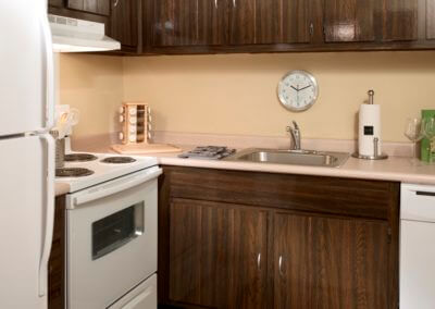 Large apartment kitchen at Korman Residential at Cherrywood