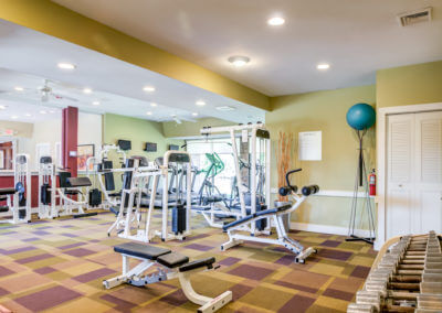 Fitness center with access to exercise equipment